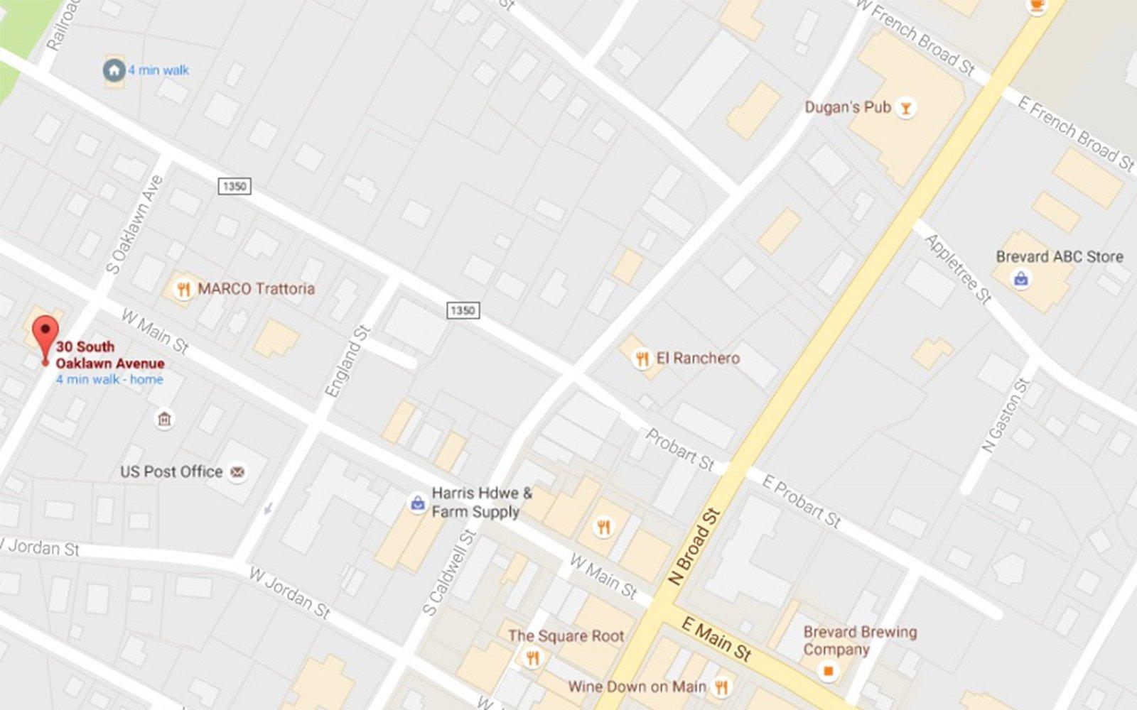 30 South Oaklawn Avenue Map