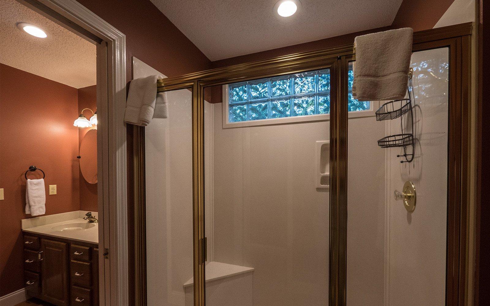 Hilt St house master bathroom