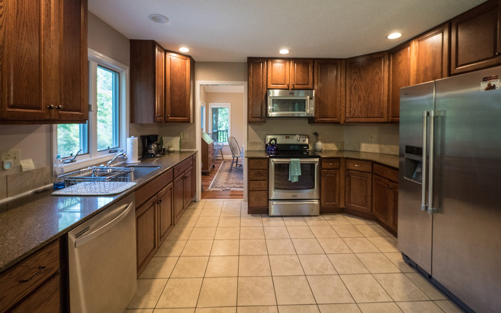 Hilt Street house kitchen - Vacation Houses in Brevard NC